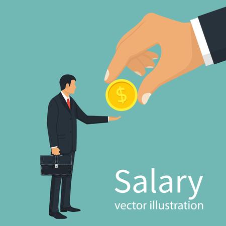 Salary time vector Иллюстрация