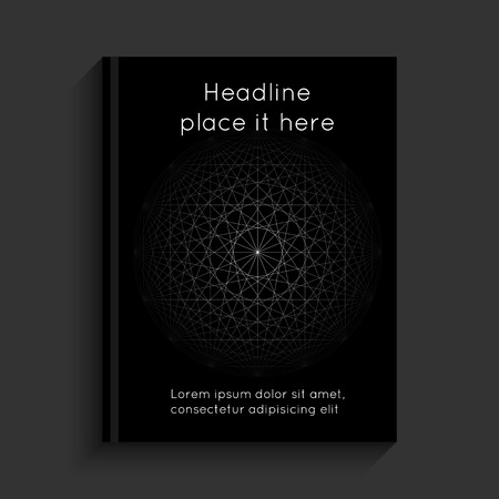 blank magazine: Black cover with circles and lines