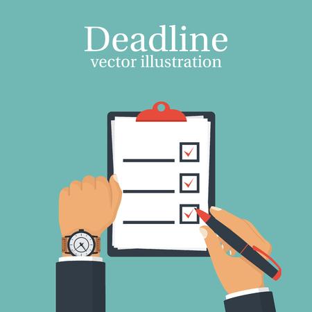 countdown: Deadline concept, time management illustration template.