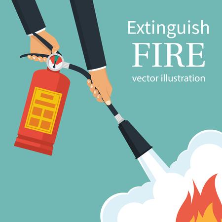 Extinguish fire Illustration