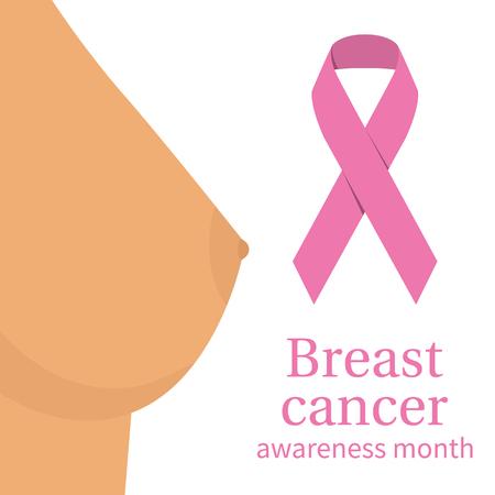 Breast cancer awareness, concept Illustration