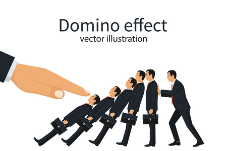 the collapsing: Domino effect concept