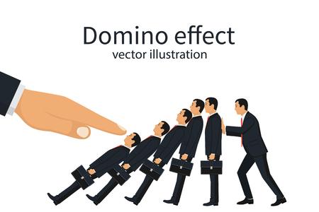 Domino effect concept