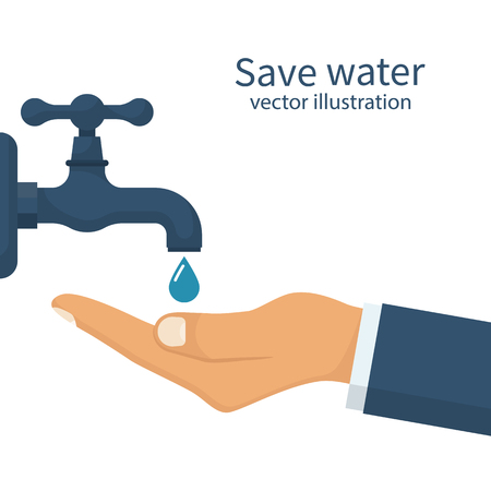 Save water concept Illustration