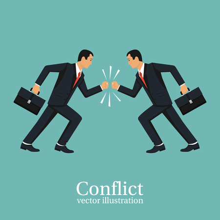 Business conflict concept