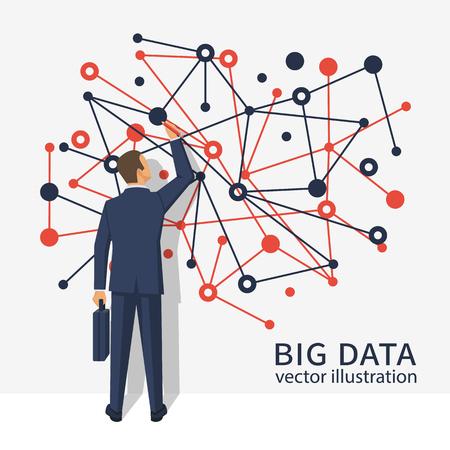 big screen: Big data business concept.