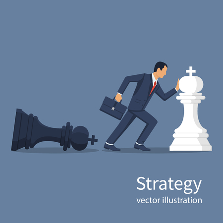 Business strategy vector Illustration