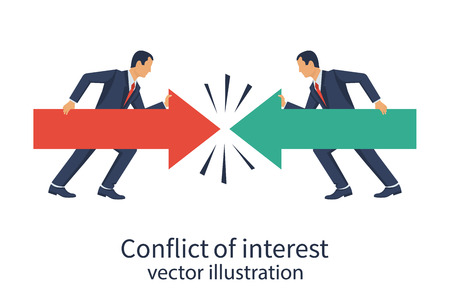 Conflict of interest. Business concept.
