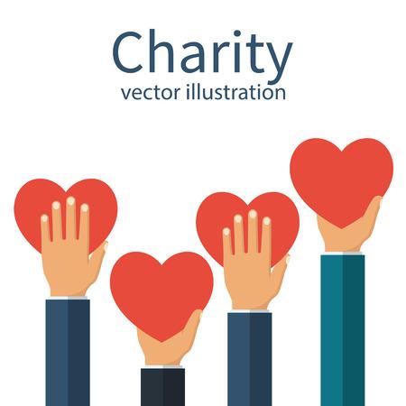 Charity concept vector Foto de archivo