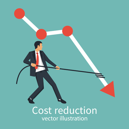 Cost reduction concept Stockfoto
