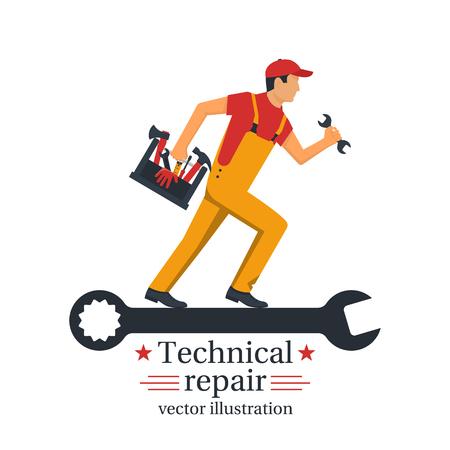 Technical repair vector Illustration