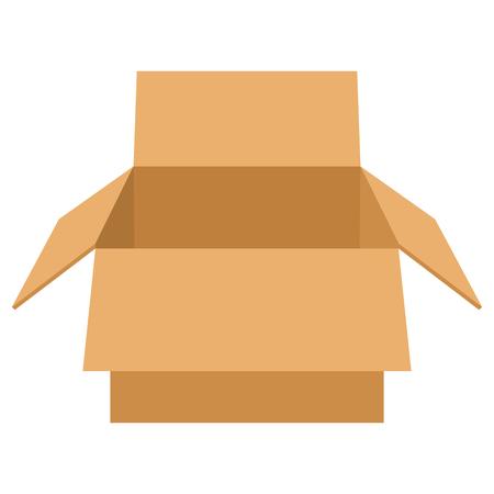 Paper box isolated on white background Illustration