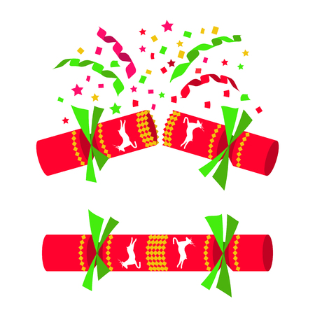 Christmas cracker isolated in white background