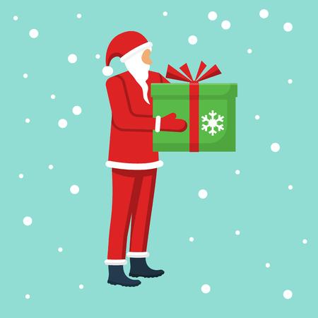 Gift from Santa Claus Vector Illustration