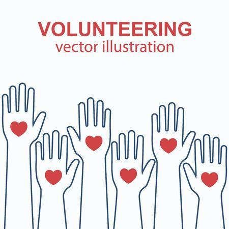 Volunteering concept vector Stock Photo