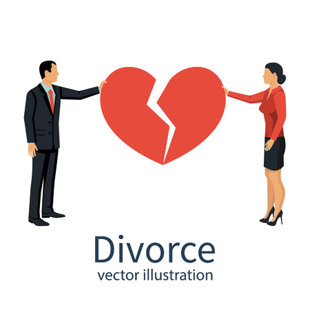 Divorce concept vector. Stock Illustratie