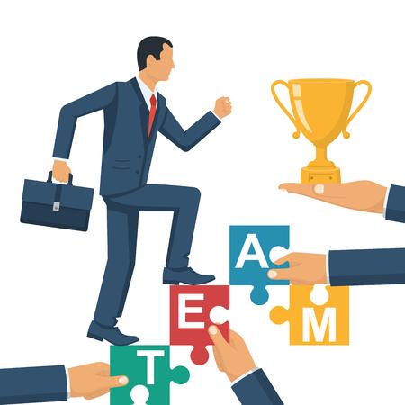 Teamwork concept. Business people illustration.