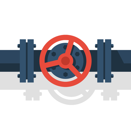 Valve on pipe vector illustration. Stock Illustratie