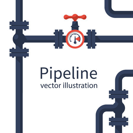 Pipeline background vector
