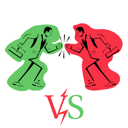 Business conflict vector Stock Photo