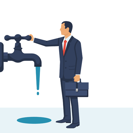 Save water concept Vector illustration.