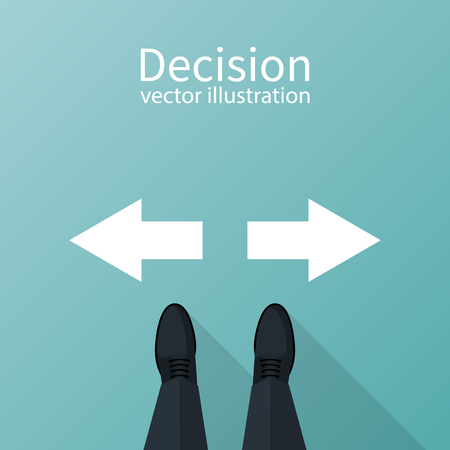Decision concept Vector illustration.