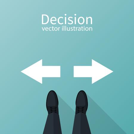 Besluitconcept Vector illustratie.