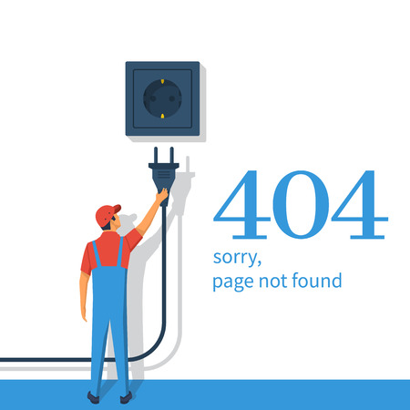 404 Error, page not found vector illustration.