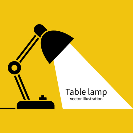Table office lamp Desktop electric Vector illustration flat design. Çizim
