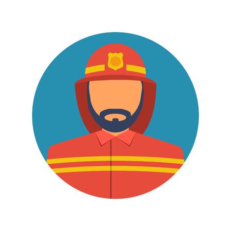 Brandweerman pictogram. Vector illustratie plat ontwerp Stockfoto - 95340506