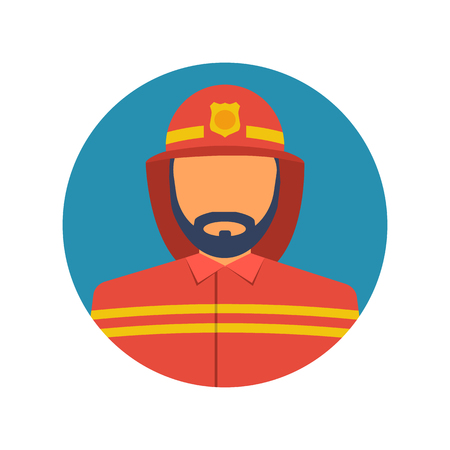 Fireman icon. Vector illustration flat design