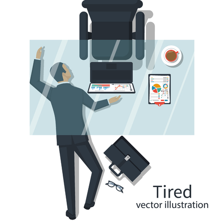 Tired concept vector 일러스트