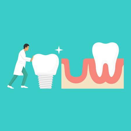 Dentist holding of dentures Stock Photo