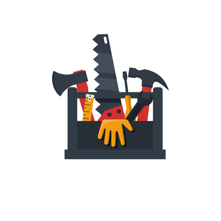 Toolbox flat design icon
