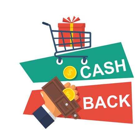 Cash back icon vector Illustration