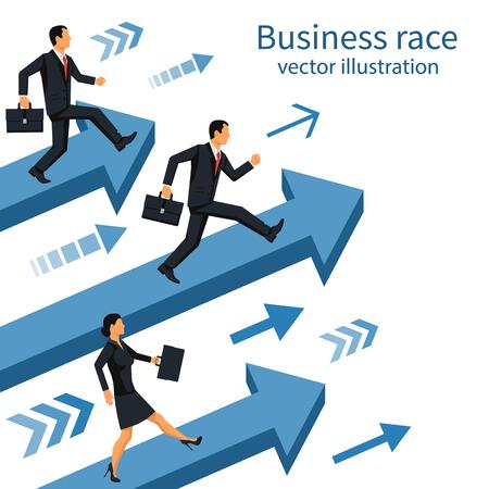 Business race vector
