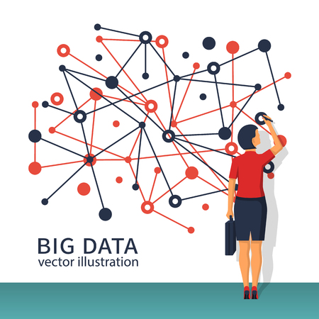 Big data concept. Vettoriali