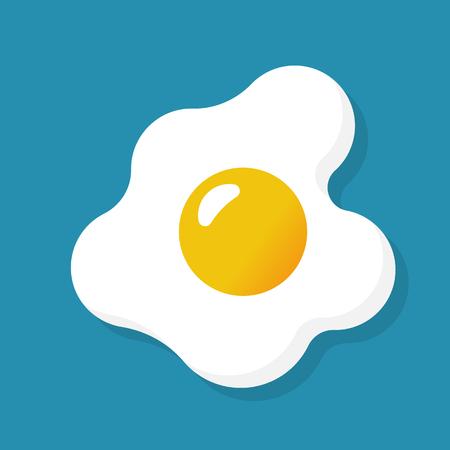 Fried egg isolated on background Ilustrace