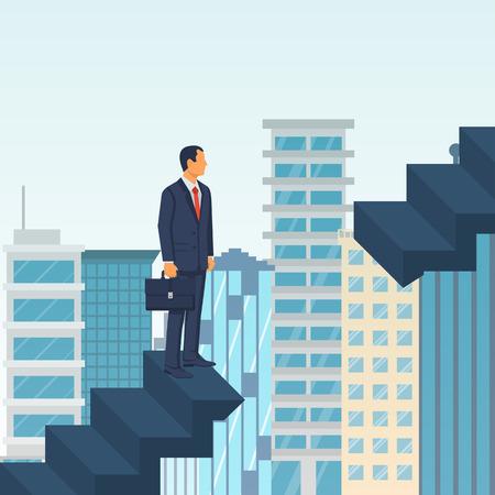 Problemma on the career path Ilustracja