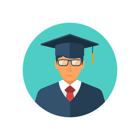 Student icon isolated on a white background Illustration