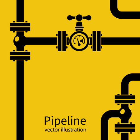 Pipeline background black silhouette