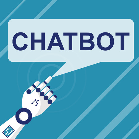 Chat Bot concept. Virtual assistance website