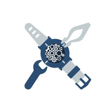 Regarder l'icône de réparation. Horlogers