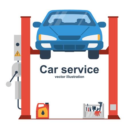 Car liffting. Vehicle repair icon