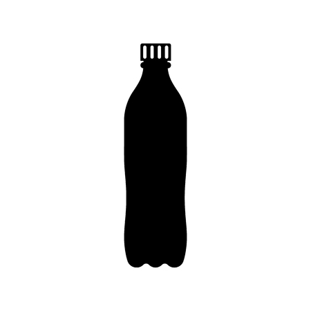 Plastic bottle black icon silhouette