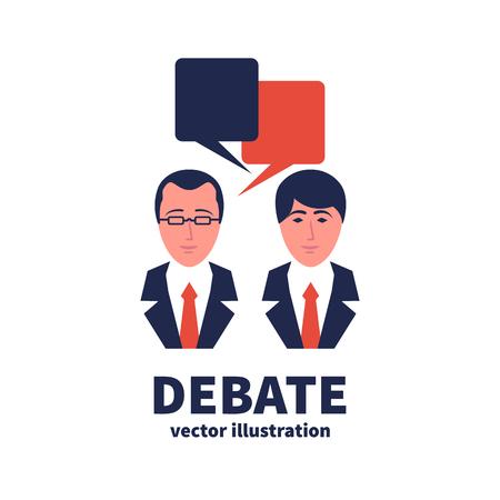 Discussion icon. Sign debate Stok Fotoğraf
