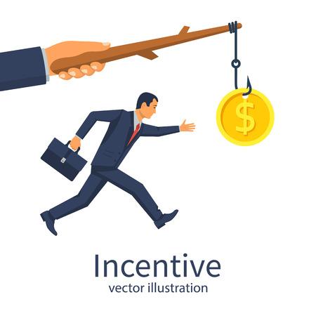 Incentive concept. Business metaphor.
