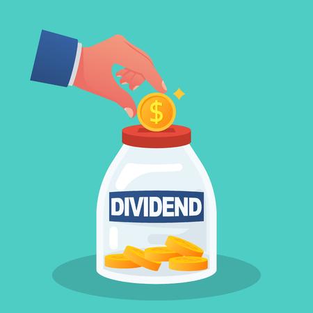 Dividend concept. Improve profit.