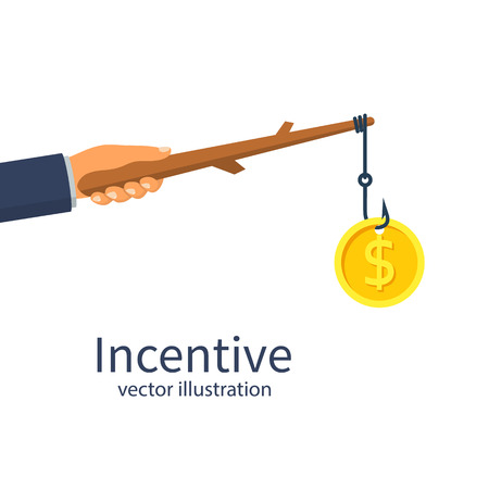 Incentive concept. Business metaphor
