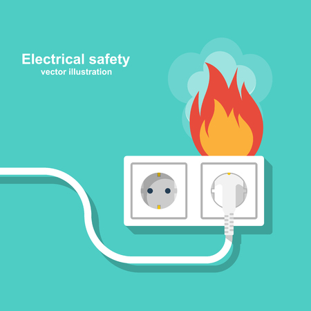 Sensational Fire Wiring Socket And Plug On Fire From Overload Electrical Wiring 101 Cabaharperaodorg